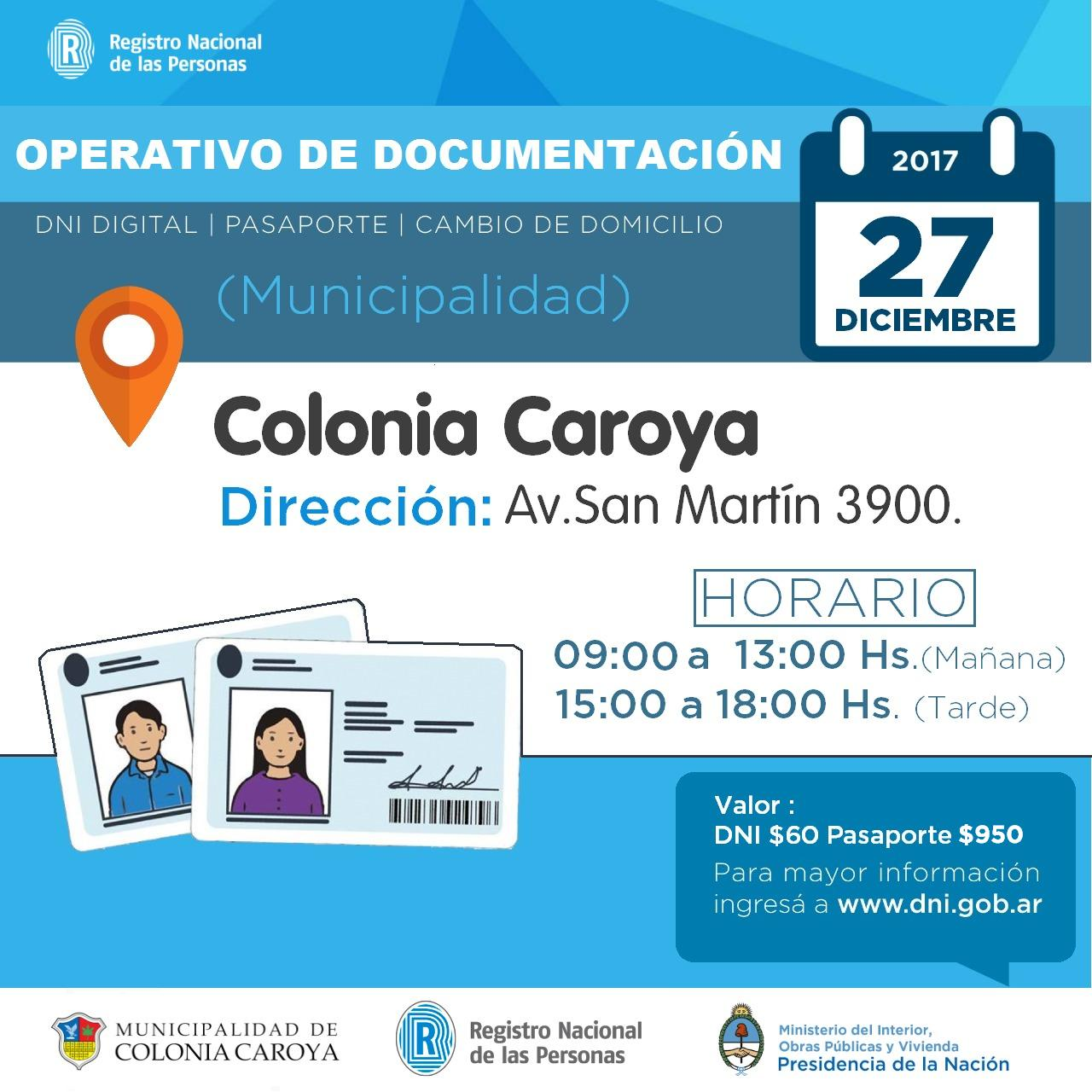 Operativo de documentaci n en colonia caroya for Pasaporte ministerio interior