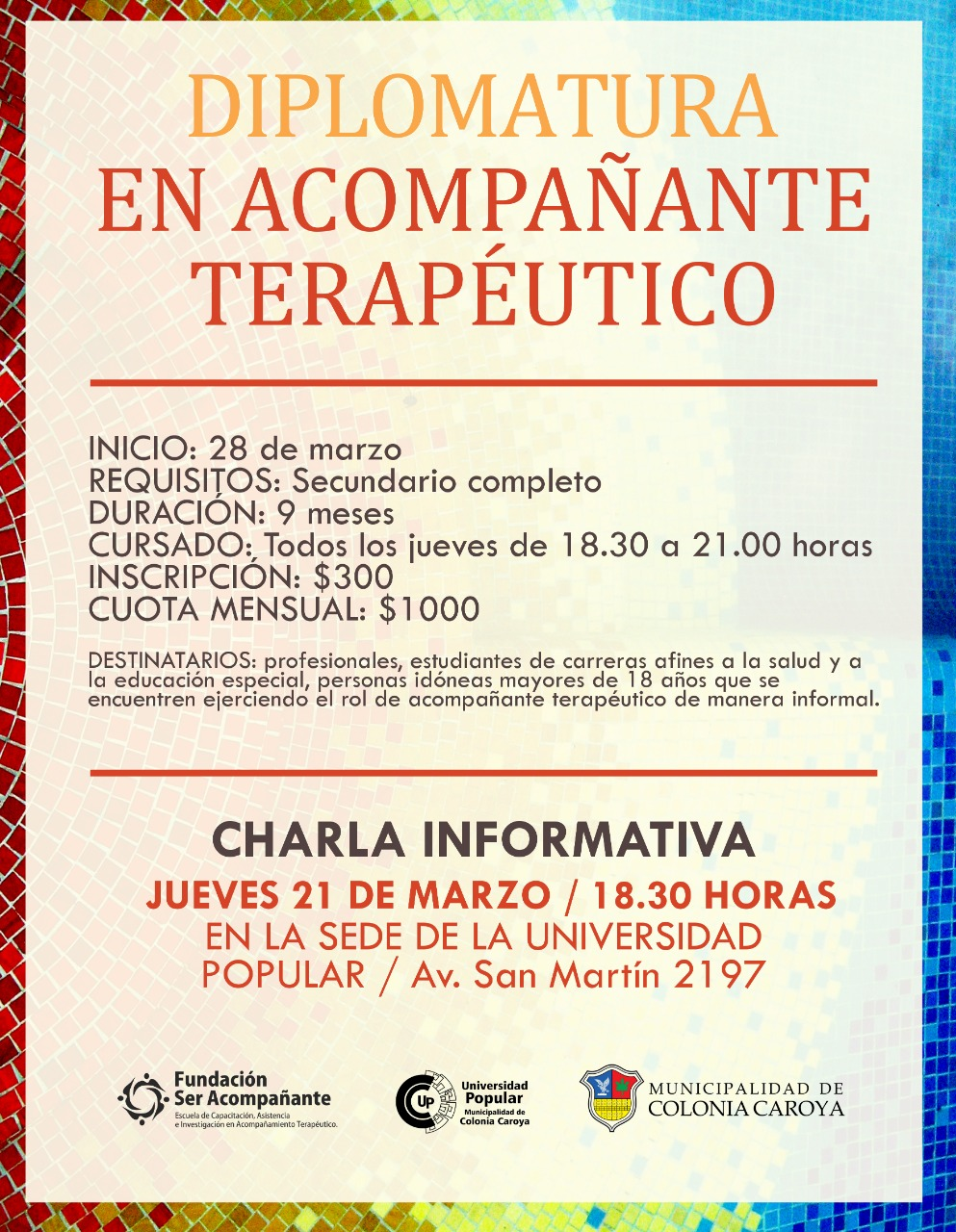 acompañante terapeutico universidad popular